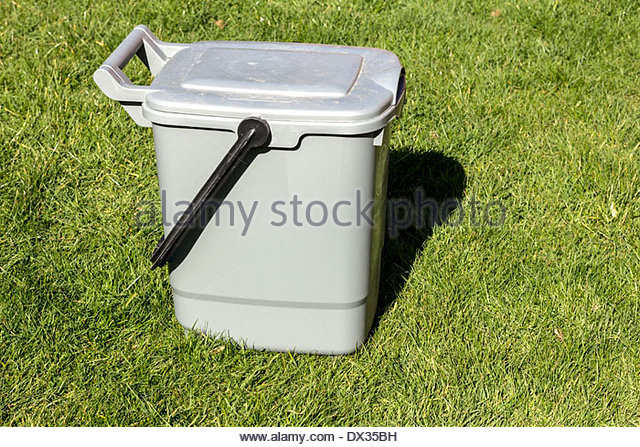 Food waste recycling caddy - Stock Image