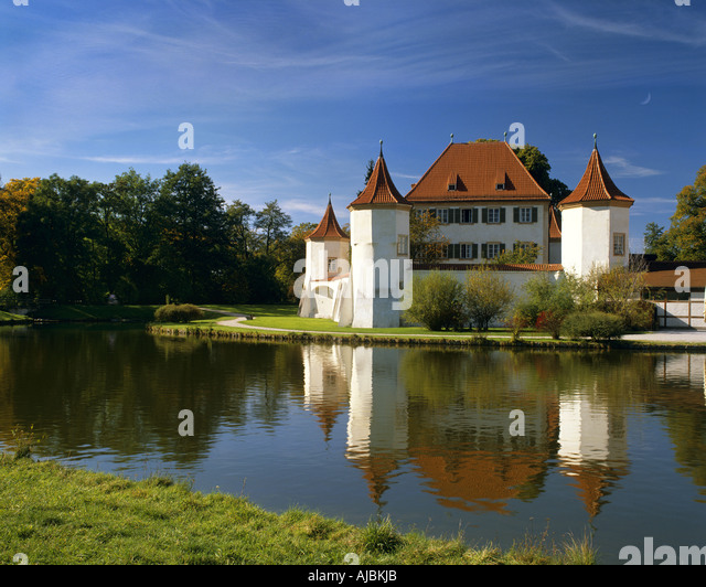DE - BAVARIA:  Blutenburg Castle in Munich - Stock Image