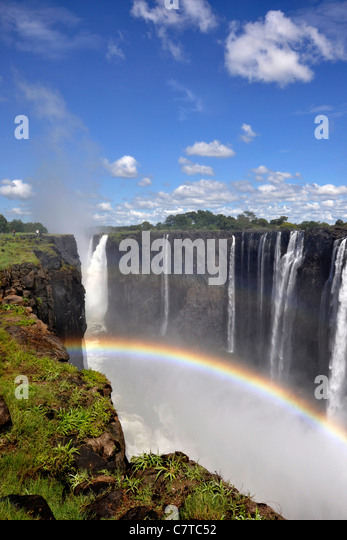 Africa, Zimbabwe, Victoria Falls on the Zambezi River - Stock Image