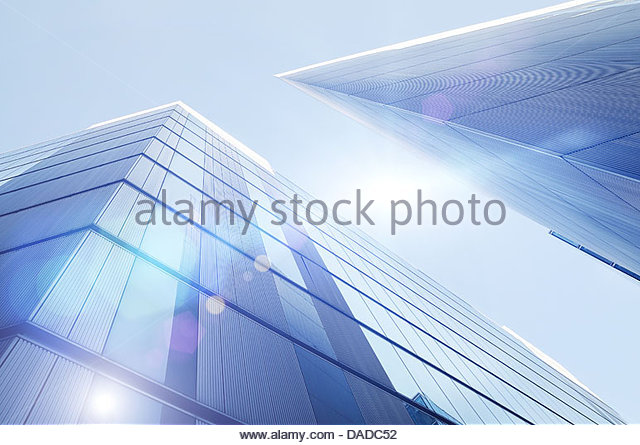 bright skyscrapers - Stock Image
