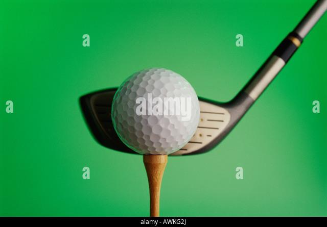 Golf club and ball - Stock Image