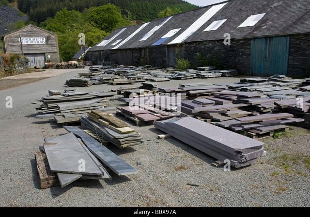 slate mining aberllefenni slate quarries machynlleth powys wales uk