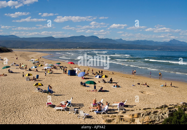 south africa garden route Plettenberg Bay beach - Stock Image