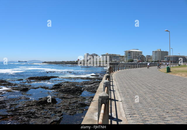 Sea Point promenade, Cape Town, South Africa - Stock Image