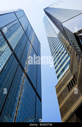 Office buildings in hong kong - Stock-Bilder