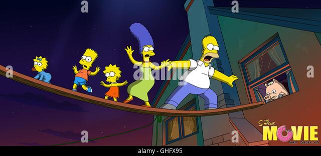 Lisa simpson stock photos lisa simpson stock images alamy - Marge simpson et bart ...