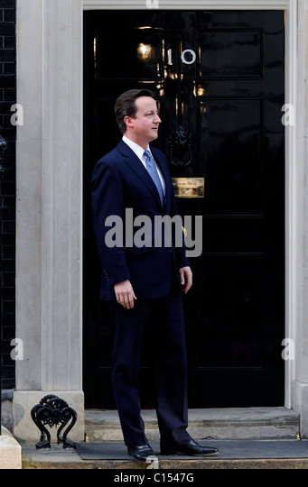 Prime Minister David Cameron at 10 Downing Street, London, 8th March 2011. - Stock Image