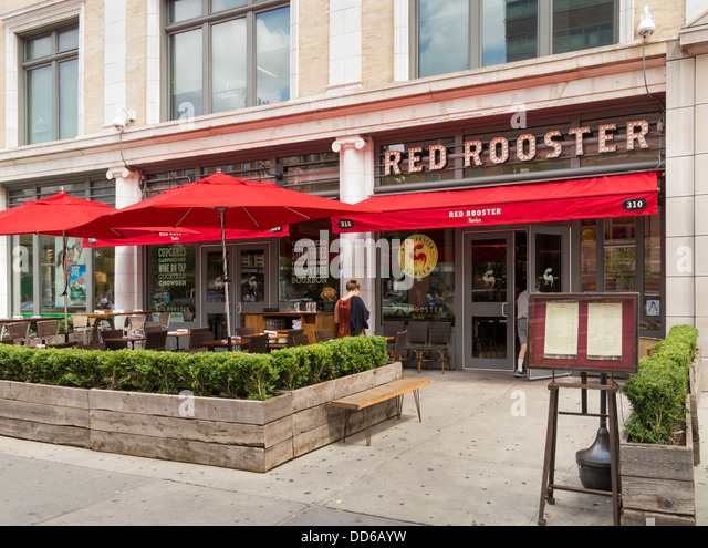 The Red Rooster restaurant in Harlem, New York City - Stock Image