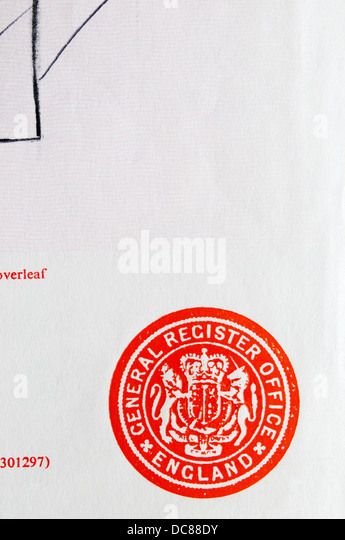 Register office uk stock photos register office uk stock - General register office birth certificate ...