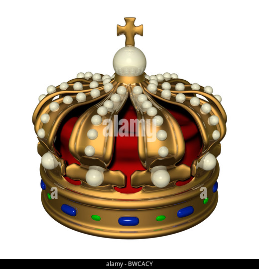 King's crown. - Stock Image