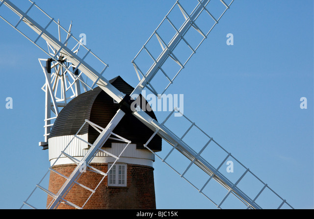 Cley Windmill on the North Norfolk coast in South East England - Stock Image