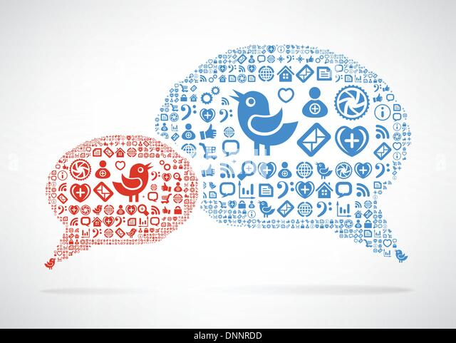 Social Media concept. Cloud icon in the form of speech bubble - Stock-Bilder