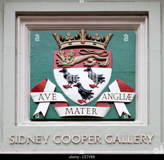 Canterbury Coat of Arms Sidney Cooper Gallery UK  Art Gallery - Stock Image