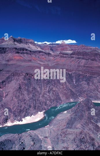 Arizona Grand Canyon Colorado River on clear day - Stock Image