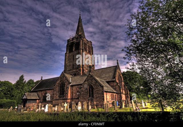 St Johns Church, Walton, Warrington, Cheshire, England, UK - Stock Image