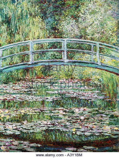 """fine arts, Monet, Claude, (1840 - 1926), painting, ""Pont Japonais a Giverny"", (""Japanese bridge - Stock Image"