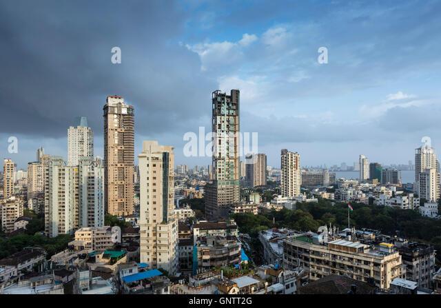 Skyline of Central Mumbai - Stock Image
