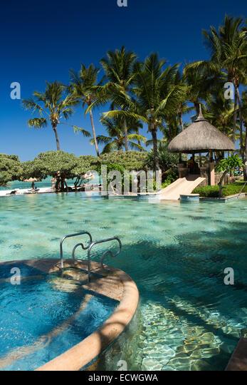Flic en flac stock photos flic en flac stock images alamy for Swimming pool mauritius