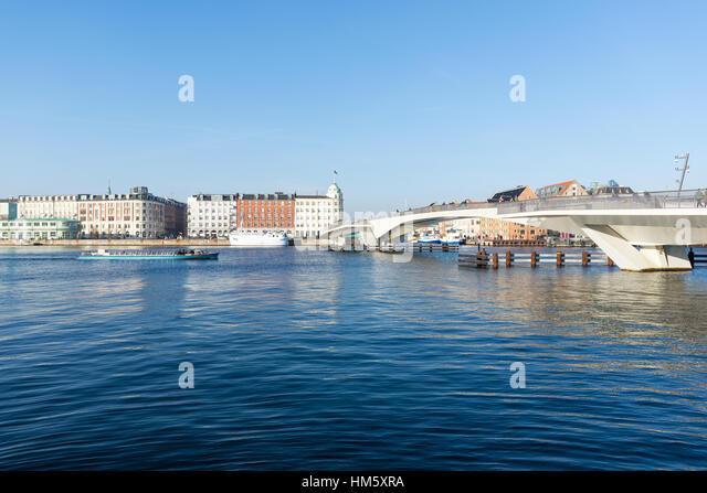 Inderhavnsbroen bridge, Nyhavn, Copenhagen, Denmark - Stock Image