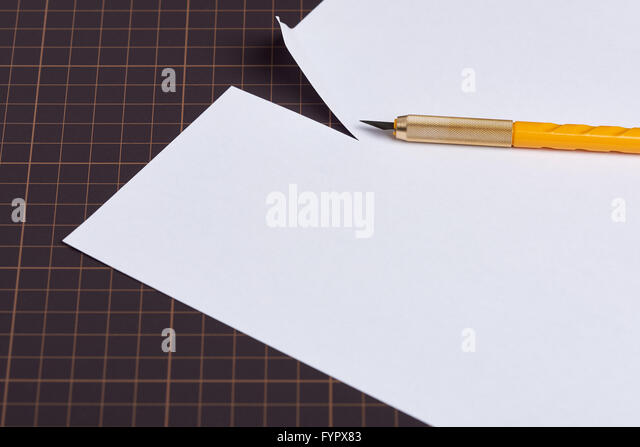 Cutting A Piece Of Paper : Paper knives stock photos images alamy