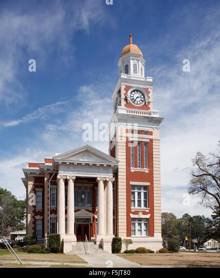 Town Hall, Ashburn Georgia, USA Small southern town - Stock Image