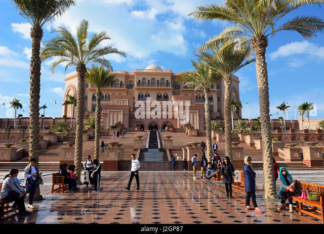 Emirates Palace Hotel Abu Dhabi, United Arab Emirates, Middle East - Stock Image