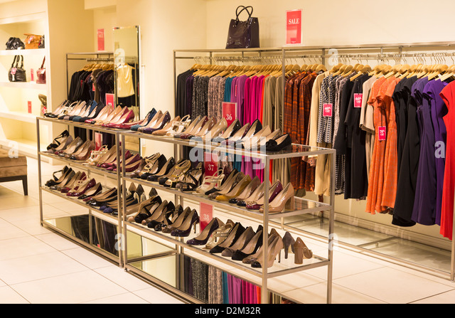 fashionable clothing store interior stock photos