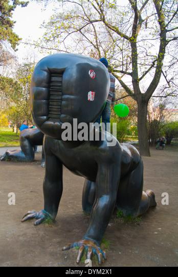 Giant baby statue stock photos giant baby statue stock for Designhotel elephant prague 1 czech republic