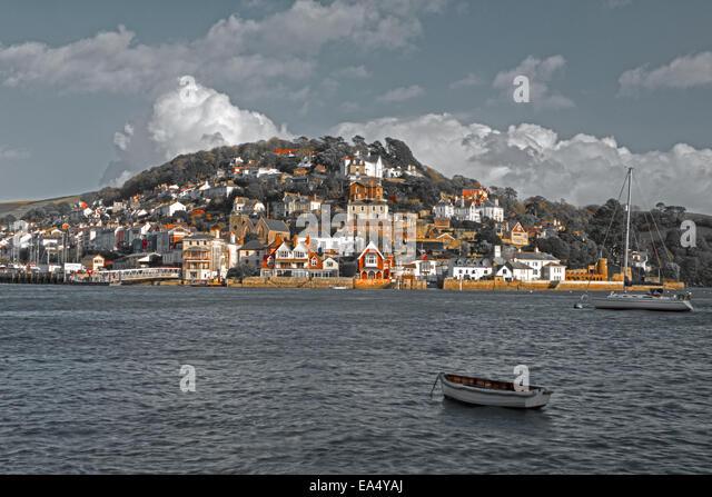 Kingswear and the River Dart,South Hams, Devon, England, Uk. - Stock Image