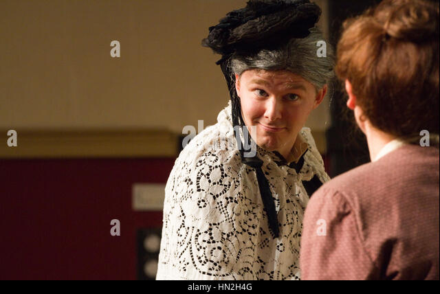 Roughcast Theatre's production of the period farce Charley's Aunt - Stock Image