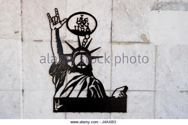 Wall Art Greenpeace : Metallic statue stock photos