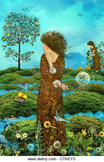 Garden Of Delights - Stock Image