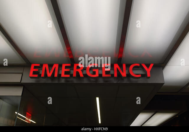 Emergency room neon sign - Stock Image