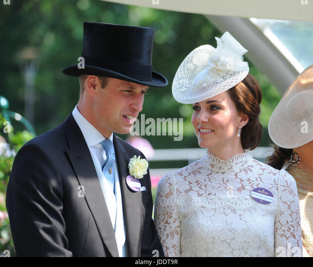 Ascot, UK. 20th June, 2017. Duke and Duchess of Cambridge at Royal Ascot, Berkshire, UK. 20th June, 2017.Credit: - Stock Image