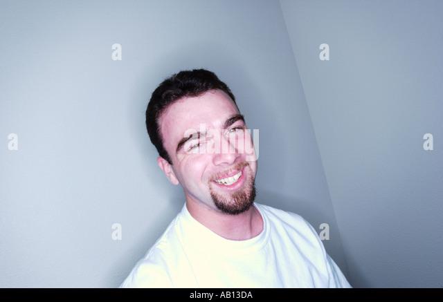 Guy laughing - Stock Image