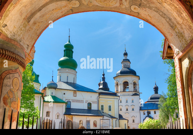 Kirillo-Belozersky Monastery, Goritsy, Volga Baltic - Stock Image