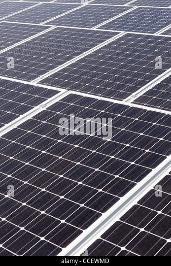 Large solar power panels - Stock Image