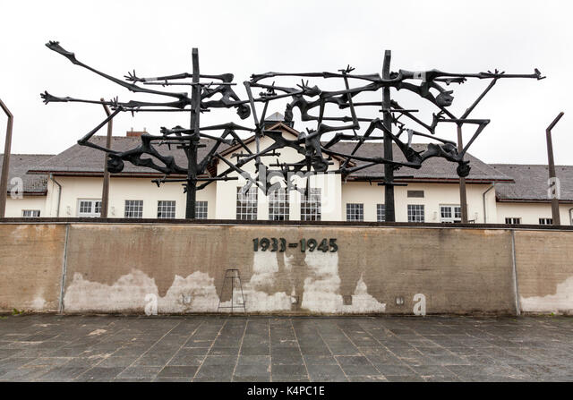 Dachau Concentration Camp Memorial Site - Stock Image