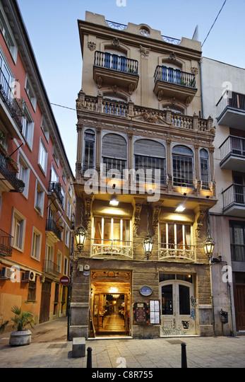 Restaurant La Mamma in Valencia, Spain - Stock Image