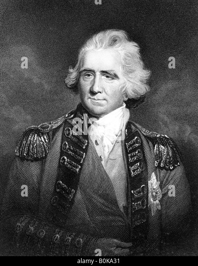 Sir Ralph Abercromby, British general. Artist: HD Cook - Stock Image