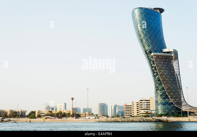 Middle East, United Arab Emirates, Abu Dhabi, Hyatt Capital Gate Hotel - Stock Image