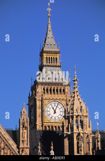 Europe United Kingdom Great Britain UK London England City of Westminster Big Ben - Stock Image