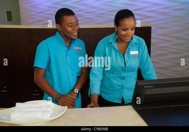 Curaçao Netherlands Antilles Dutch Piscadera Bay Hilton Curaçao hotel resort global company chain hospitality - Stock Image