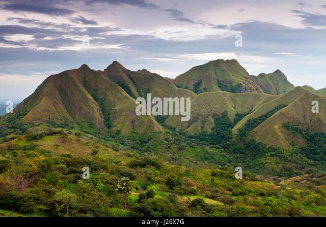 Evening at Cerros los Picachos de Ola, Cocle province, Republic of Panama. - Stock-Bilder