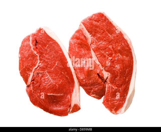 Beef, rump steaks. - Stock Image