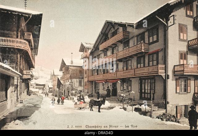 Champery, Switzerland - Stock Image