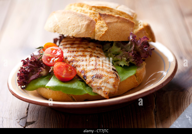 gourmet chicken sandwich - Stock Image