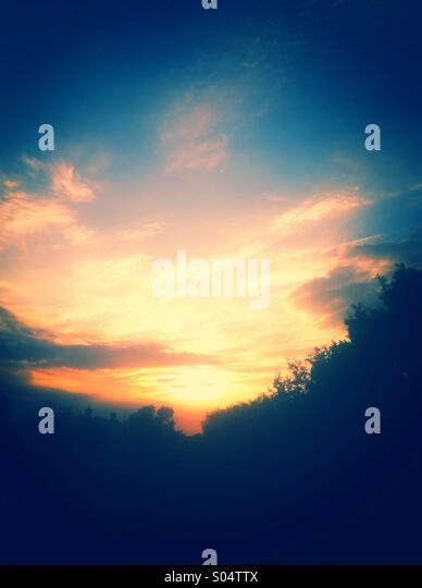 Summer sunset - Stock Image