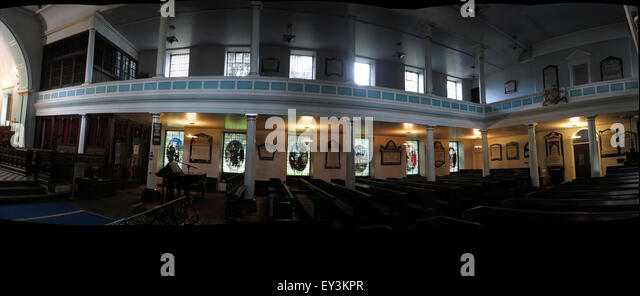 St Cuthberts Church,Carlisle,Cumbria,England,UK interior - Panorama - Stock Image