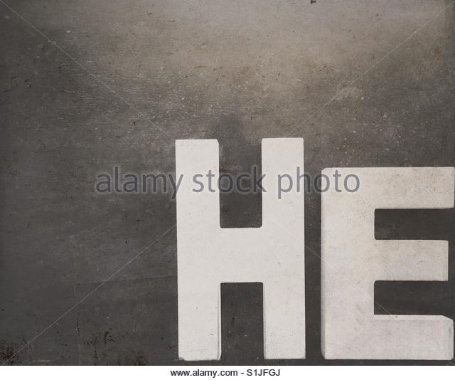 the word He - Stock Image